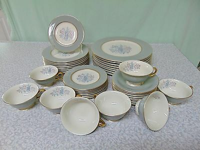 ❤ 40 PC SET Castleton FERNMERE Full Dinner Set for 8