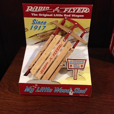 Radio Flyer Little Wooden Sled Miniature Doll Size