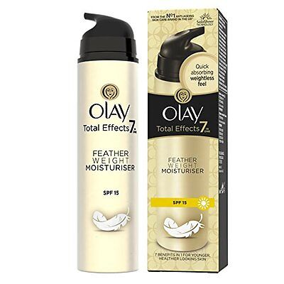 Olay Total Effects 7-in-1 Anti-Ageing Featherweight Moisturiser SPF15, 50 ml