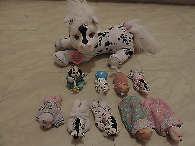 Vintage Pony surprise lot 9 babies (kitty, puppy, pony) + 2 pouch + 1 mom (1992)