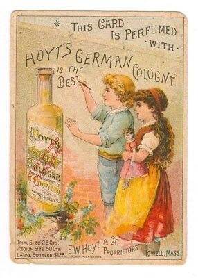 Hoyts German Cologne Boy Painting Wall Victorian Trade Card Free Shipping