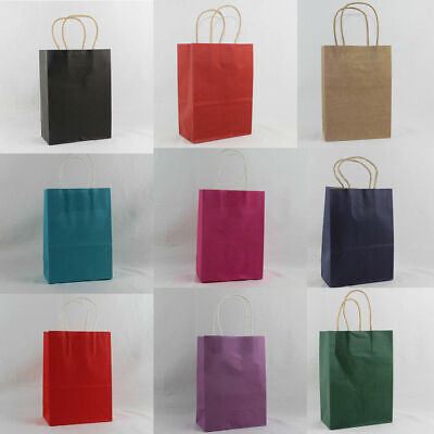 21cm Paper Carrier Present Gift Bags Christmas Wedding Birthday Loot Bag
