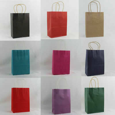 21cm x15cm Paper Carrier Present Gift Bags Christmas Wedding Birthday Wholesale