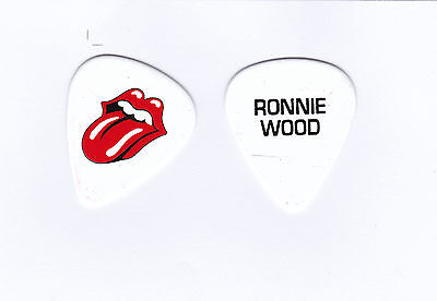 GUITAR PICK - THE ROLLING STONES - RONNIE WOOD -2016 Tour pick stage used