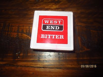 """1 WEST END BITTER """"BROKEN HILL ISSUE""""  """"older style """" BEER TAP TOP  colectable"""