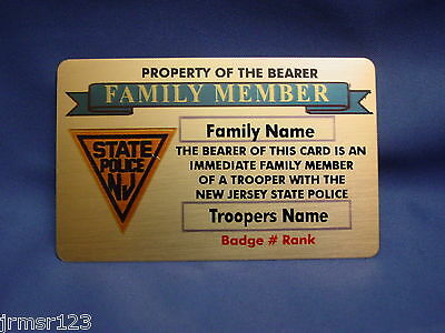 Lifetime Gold Brass Card- Family Member-Family Or Friend- Pba -Fop-Fmba -Police