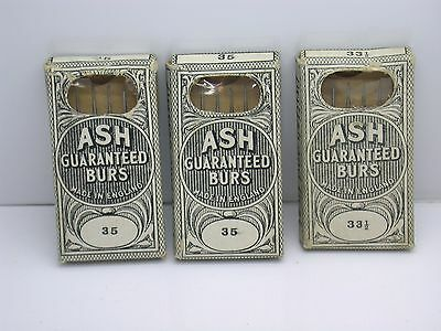 Three Packages of Vintage Jewelry Watch Ash Burs - Made in England - 25k