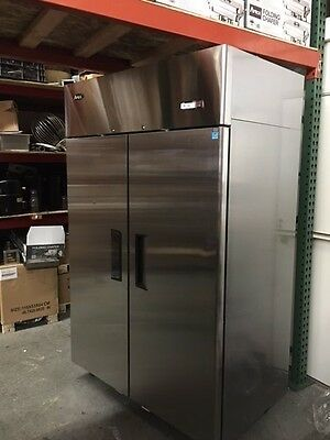 ATOSA MBF8005 Restaurant Commercial  2 DOOR STAINLESS REFRIGERATOR DING & DENT