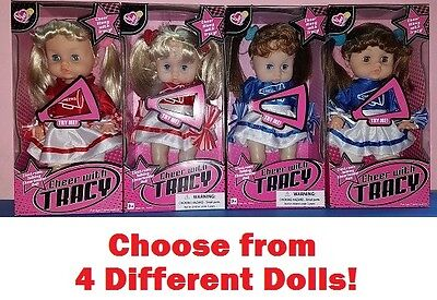 Cheer with Tracy Doll Electronic Talking Cheerleader Red Blue Dress Kids Toy