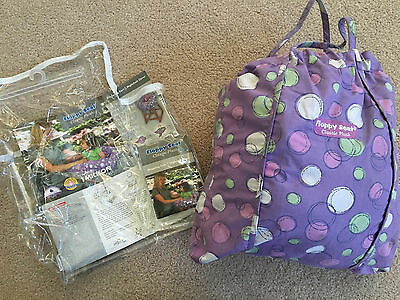 Floppy Seat Classic Plush Shopping Cart & High Chair Cover purple violet bubbles