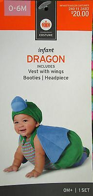Infant Dragon Halloween Costume Size: 0-6 Months