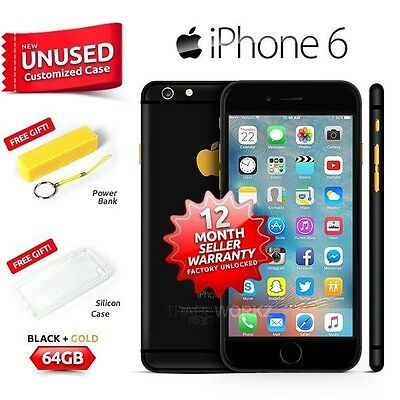 New in Sealed Box Factory Unlocked APPLE iPhone 6 Black Gold 64GB 4G Smartphone
