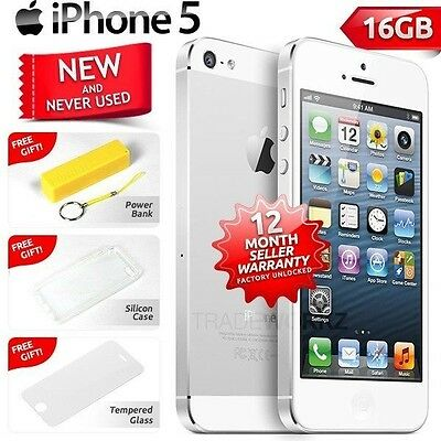 New in Sealed Box Factory Unlocked APPLE iPhone 5 White 16GB 4G Smartphone