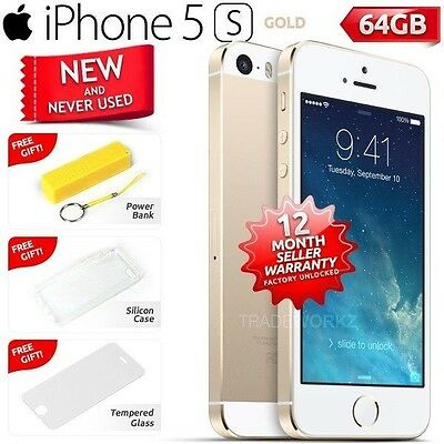 New in Sealed Box Factory Unlocked APPLE iPhone 5S Gold 64GB 4G Smartphone