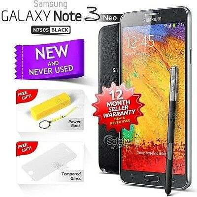 New Sealed Unlocked SAMSUNG Note 3 Neo Black N7505 16GB 4G Android Smartphone