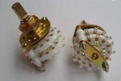 MADE IN U.S.A, Double Deck 2P5T 5 WAY ROTARY CERAMIC SWITCHES