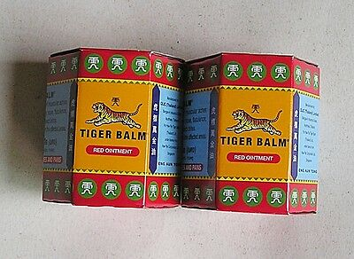 2 x Red TIGER BALM LARGE JARS 30 Gramme Muscular and Body Pain Relief Post FREE