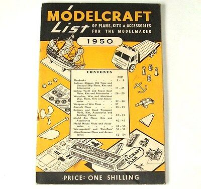 MODELCRAFT LIST - January 1950 - small booklet