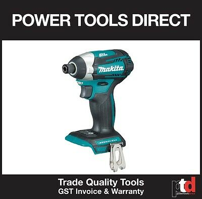 """New Makita 18V Cordless Impact Driver Dtd154Z 1/4"""" 3 Stage Skin Bare Tool Only"""