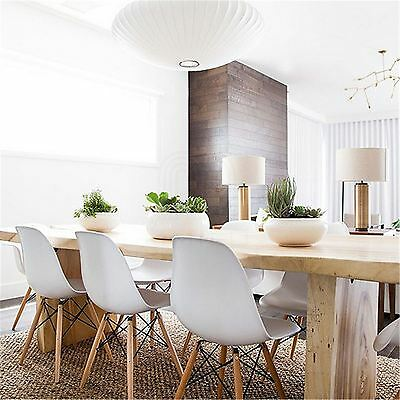 Mmilo Eiffel Inspired Office Dining Chair Retro in White set of 6 chair