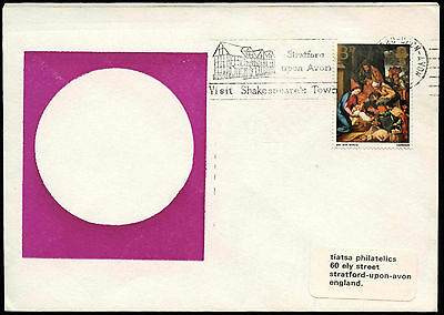 """GB 1968 """"Visit Shakespeare Town"""" Slogan Cover #C19010"""