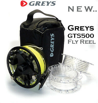 **NEW** Greys GTS500 CASSETTE FLY REELS and SPARE SPOOLS & LINE LOADED Options!!