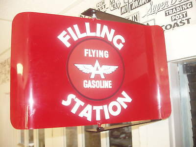 Flying -A  50S Era Spinning Wall Mount Advertising Sign