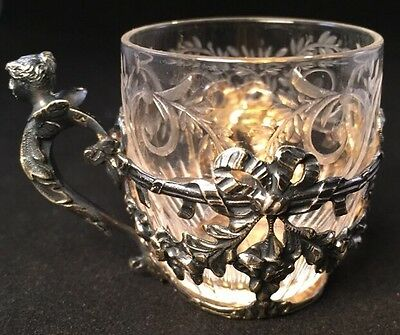 Fine Tiffany & Co Sterling Silver Figural Demi-Tasse cup French 950 Standard