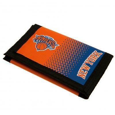 Official Licensed NBA Product New York Knicks Nylon Wallet FD Coin Money Gift