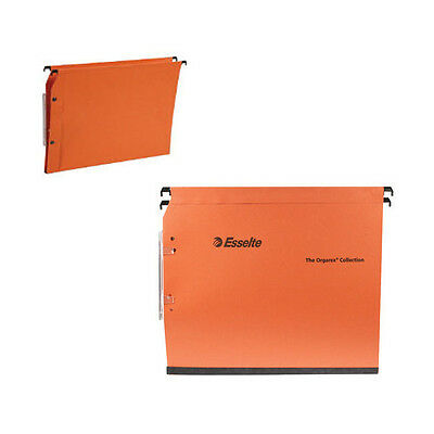 ESSELTE ORGAREX ORANGE LINKABLE LATERAL FILE 15mm A4 25 PACK / 21628