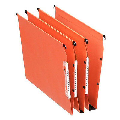 ESSELTE ORGAREX ORANGE LINKABLE LATERAL FILE 50mm A4 25 PACK / 21630