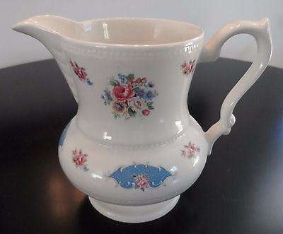 Lord Nelson Floral Pitcher Made In England Pink, White And Blue