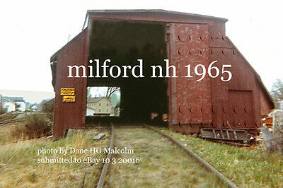 Boston&Maine Freight Building Milford NH 1965