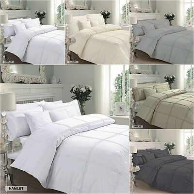 Luxury Duvet Cover With Pillow Cases Quilt Cover Bedding Set Hamlet All Sizes