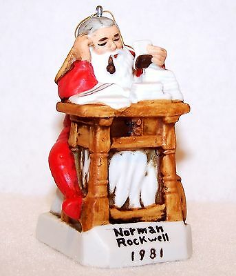 Estate 1981 NORMAN ROCKWELL Dave Grossman LETTERS TO SANTA Christmas Ornament