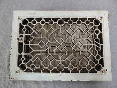 Antique Cast Iron Heat Grate Vent Register Old Vtg Hardware 8x12 1684-16
