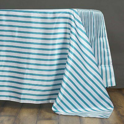 "60x102"" Satin Rectangle Striped Seamless Tablecloth~Wedding~NEW"