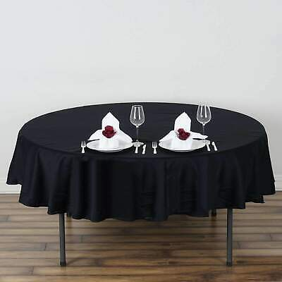 70 in. 100% Cotton Round Seamless Tablecloth~Wedding Party Banquet
