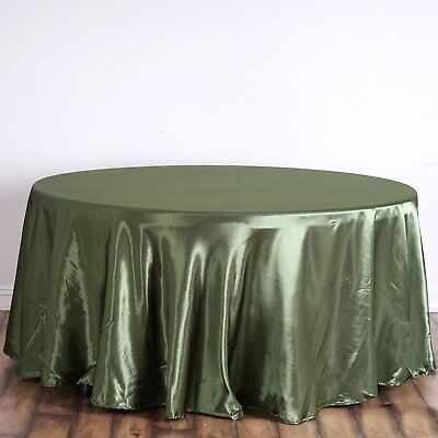 120 in. Satin Seamless Round Tablecloth Wedding Party Banquet Restaurant