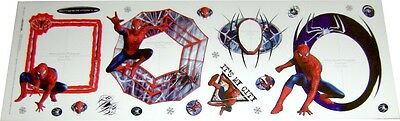 Spiderman 3 Stickerbogen 22-teilig / Wandtattoo 50 x 16 cm