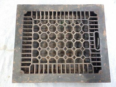 Antique Cast Iron Heat Grate Vent Register Old Vtg Honeycomb 10x12 1689-16