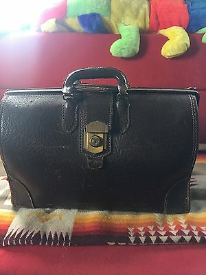Vintage Antique Leather Doctors Bag Case