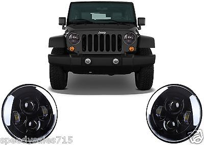 """7"""" Round LED Projector Headlights For Jeep Wrangler JK TJ CJ New Free Shipping"""