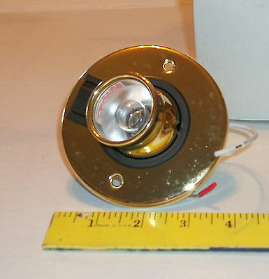 Rv 12 Volt Round Brushed Nickel Ceiling Light Fixture With
