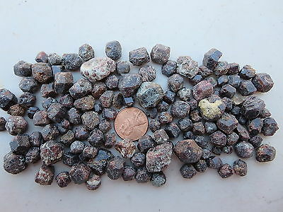 105  Garnets, 160 Grams.  Tumble, Facet Or Specimens.  From Closed Rock Shop