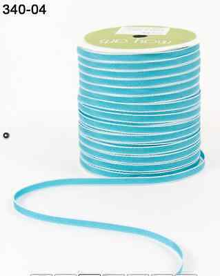 """1/8"""" Solid Ribbon - May Arts - 340-04 - Turquoise - 200 Yds."""