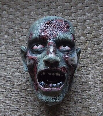 Detailed Hand Painted Solid Resin Bloody Zombie Beer Tap Human Flesh Eater Lever