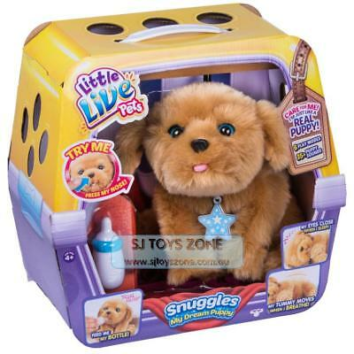 Little Live Pets Snuggles my Dream Puppy Open Close Eyes Move Head Breathe Feed