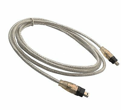 Six feet 4-pin to 4 pin IEEE 1394a, 6 foot Firewire Cable, Silver, IEEE1394a, 6'