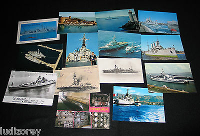 Lot 14 Cpa Cpsm Navire Guerre Batiment Combat Marine Nationale France 2 Russe